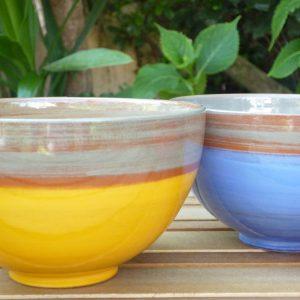 bols en céramique colorée