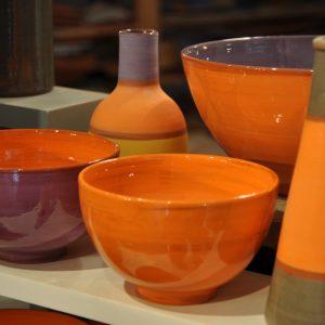 céramiques oranges