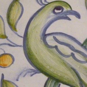 détail fresque sur carreaux de faience